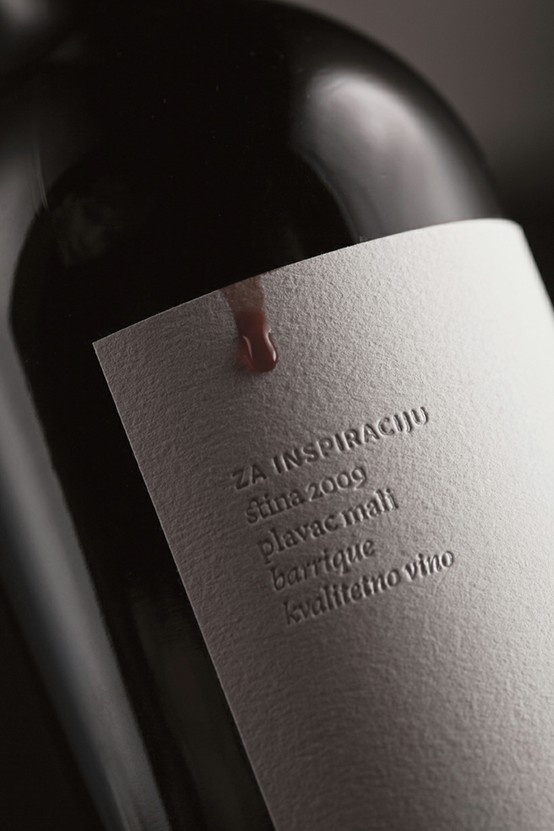 It's like the wine is supposed to drip onto the label.... #packaging #design #wine