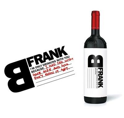 BFrank Wine : TACN Studio #packaging #bfrank #graphic #label #wine #honesty