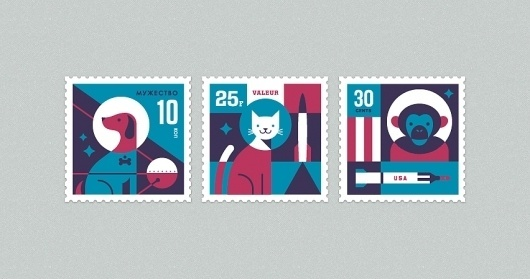 Eric R. Mortensen #illustration #stamps #icons