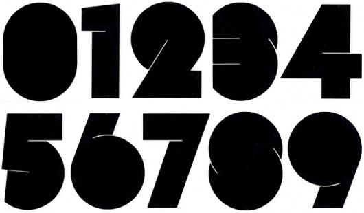 Prototypes #numbers #fat #big #typography