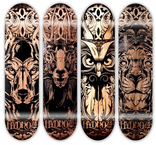 Hydro74 - Piety within Progression #amazing #engraved #design #74 #illustration #hydro #skateboard