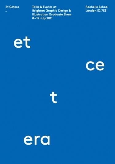 Brighton Graphic Design & Illustration Degree Show Et Cetera #bgdi2011 #et #cetera