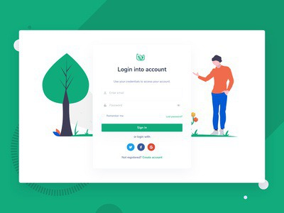 Login Page from Leaf Nonprofit Environmental Bootstrap Template