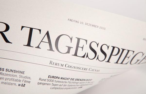 Detail Tagesspiegel Titelblatt #design #germany #newspaper #editorial #berlin