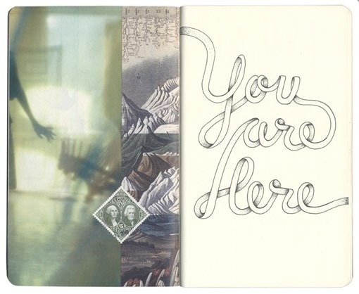 You are here Notebook Sketch - Design Work Life #stamp #script #sketchbook #drawn #type #sketch