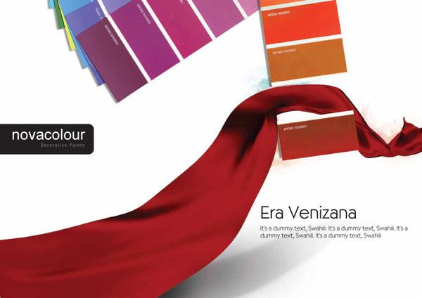 Nova Colours Decorative Paints on Behance #campaign #colours #press #paints #nova #decorative