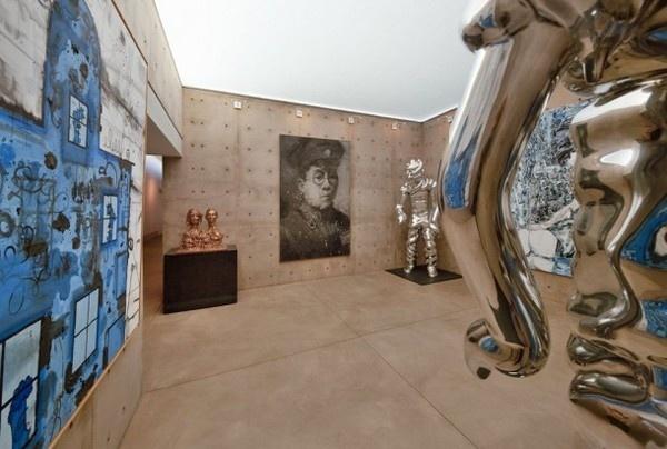 Room gallery interior #gallery #home #art #paintings #residence