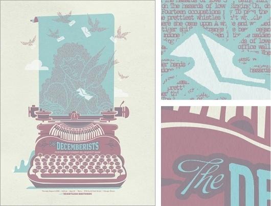 Spike Press #print #design #the #illustration #poster #decemberists