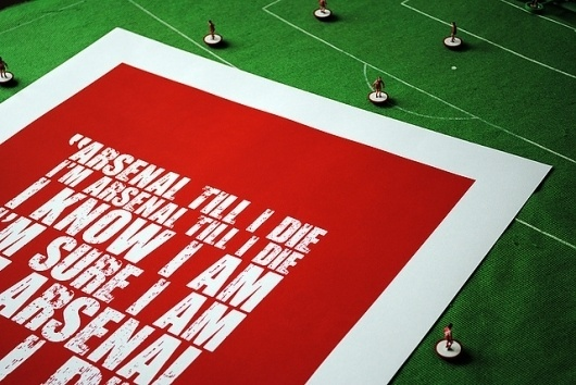 All sizes | arsenal_4 | Flickr - Photo Sharing! #red #arsenal #screenprint #song #poster #chant #football #green
