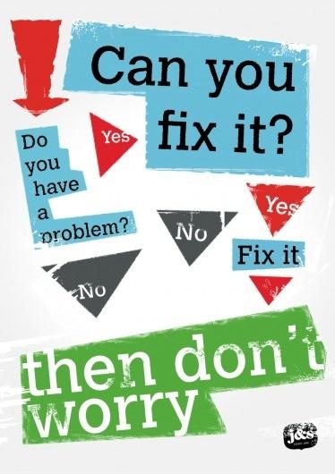 Johnenstefan.nl #truth #worries #johnenstefan #problems #poster #no #typography