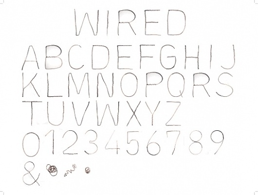 Wired Typeface, Kate Bauer #typeface