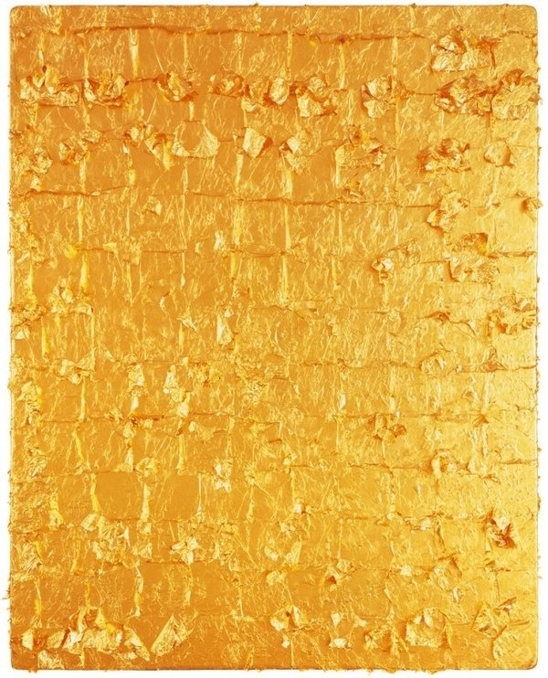 Yves Klein 'Untitled Gold Monochrome' 1962 #surface #shiny #golden #gold