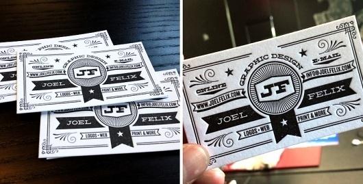JF Business Cards - Business Cards - Creattica #joel #business #letterpress #felix #cards