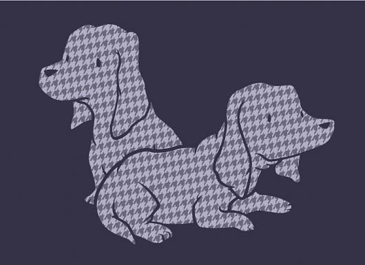 All sizes   Basset Houndstooth   Flickr - Photo Sharing! #illustration #line