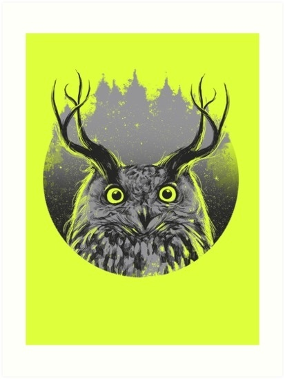 Majesty #owl #design #illustration #nature #art