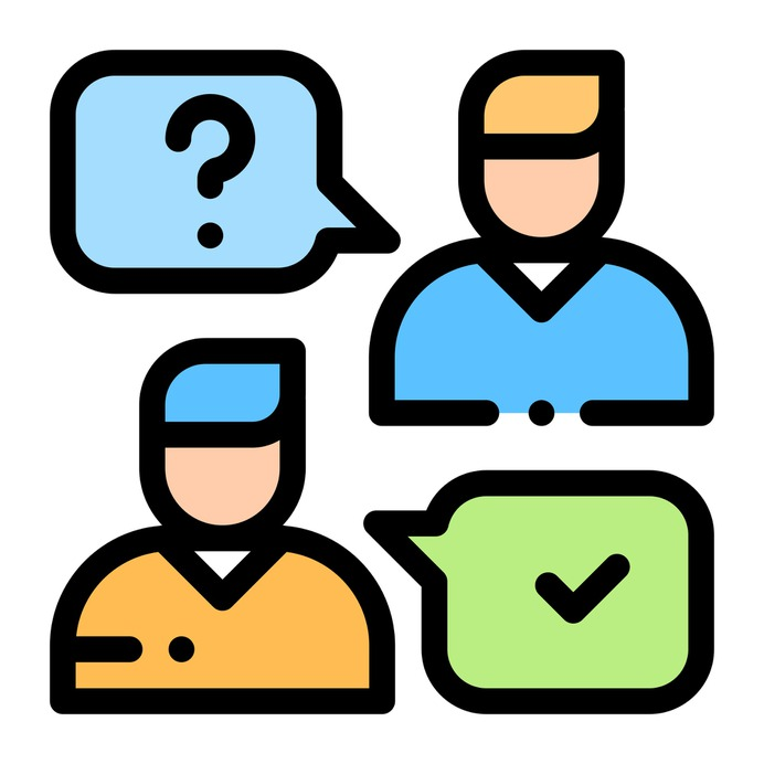 See more icon inspiration related to support, chat, conversation, check, user, business and finance, customer service, communications, speech bubble, information and application on Flaticon.
