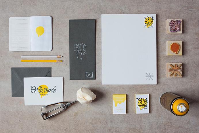 A LA MODE: SOCIAL MEDIA #visual #identity #branding #stationery
