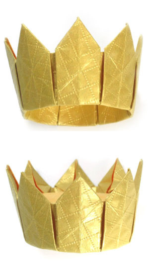 How to make an eight-pointed origami crown (http://www.origami-make.org/howto-origami-crown.php)