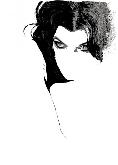 ILLUSTRATIONS (Digital) on the Behance Network #fashion #illustration #blackwhite #woman