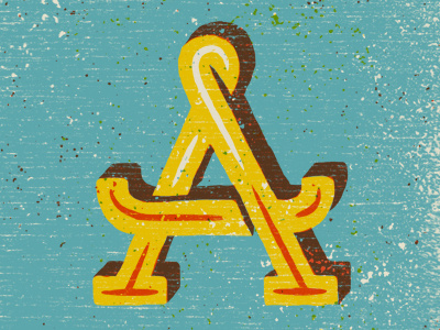 A #a #letter #illustration #type #typogrpahy