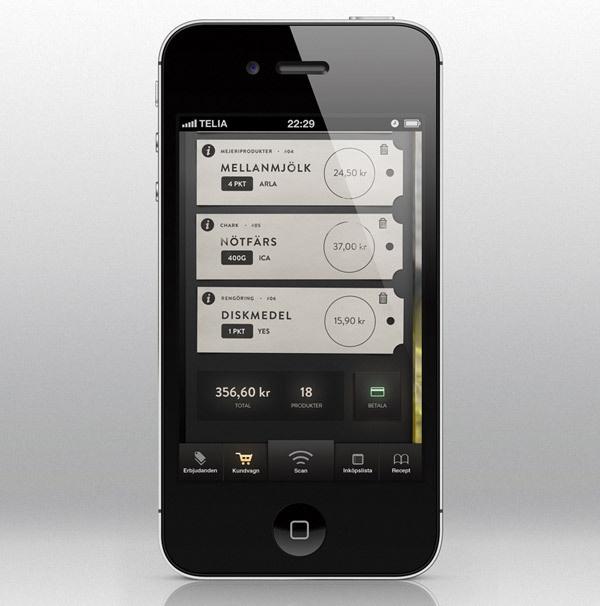 Showcase of Beautiful iPhone App UI Concept Designs #stub #app #ticket #ui