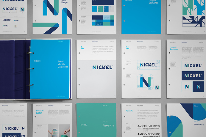 Nickel Labs Logo Brand Guidelines by Javier Garcia