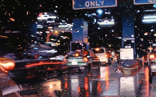 On a Rainy Day...Gregory Thielker's Paintings (Not Photos) - 8 Total - My Modern Metropolis #gregory #thielker #painting #realistic