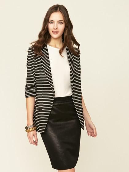 Shoshanna Striped Knit Boyfriend Blazer #gilt #blazer #stripe