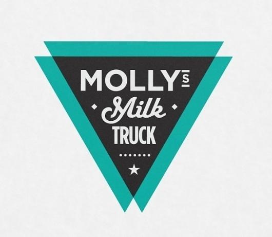 Molly's Milk Truck Logo Design | Imagemme New York #truck #branding #triangle #milk #logo