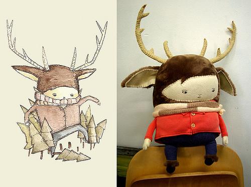 2266875464_03699c9339.jpg (500×373) #illustration #toy #sketch #creature