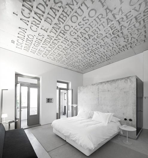 yellowtrace_Casa-do-Conto-Hotel_Porto-Portugal_01.jpg (JPEG Image, 700×749 pixels) #interior #design #graphic #environmental #type #typography