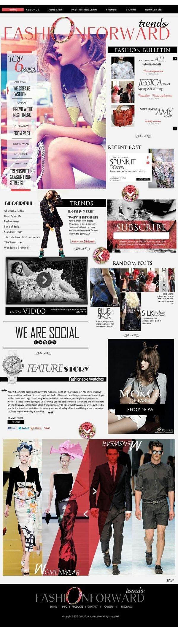 | f a s h i o n f o r w a r d | #fashion #layout #design #white