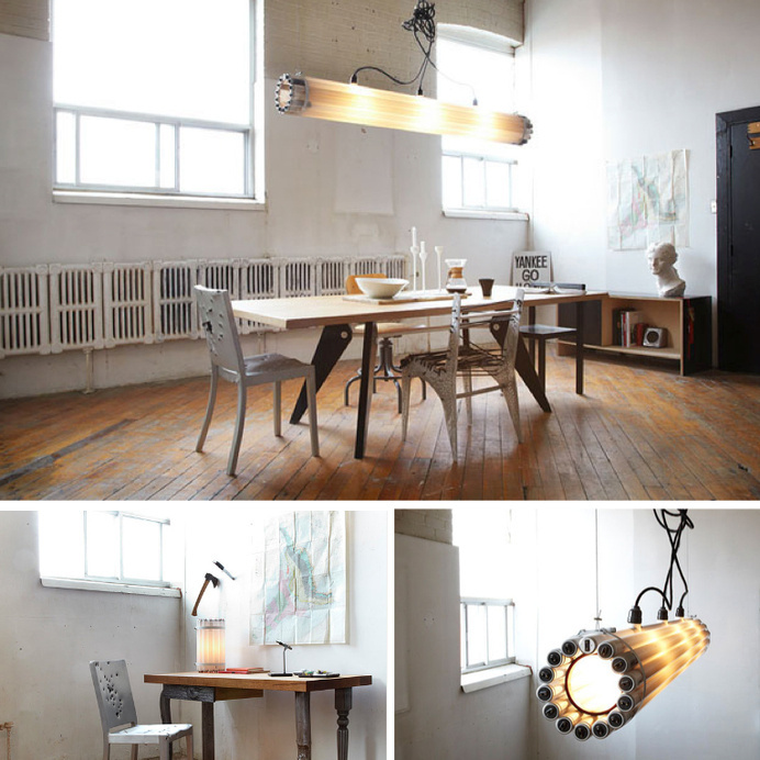 Recycled Tube Lamp #design #lights #castor #toronto #lamps #recycled