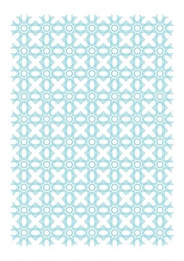 Vector Drawings - February and March on the Behance Network #blue #pattern