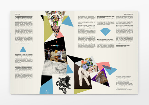 Six Pockets Magazine #geometry #colours #publication #spread #editorial #magazine