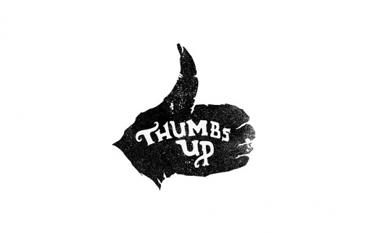 micheal hanly #stamp #thumbs #logo #up #type #hand #typography