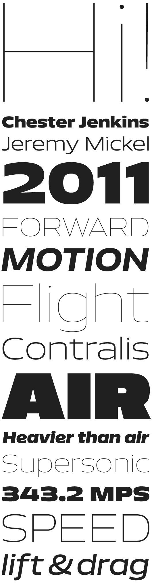 Aero by Chester Jenkins & Jeremy Mickel #font #constellation #serif #sans #type #typography