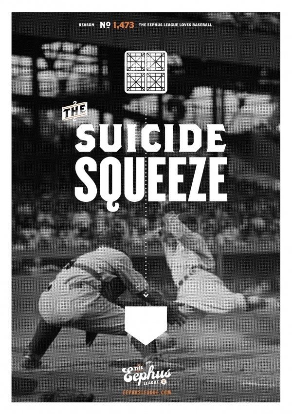 Suicide Squeeze « Eephus League #baseball #poster