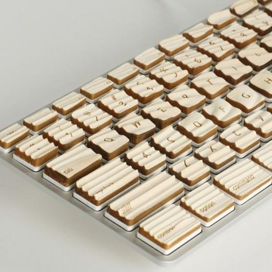 Engrain Tactile Keyboard | Colossal #keyboard #design #wood #computers #industrial
