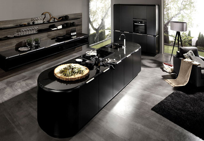 Interior Design Trends 2015 The Dark Color Schemes are Back supermatt black kitchen #design #black #colors #kitchen #dark