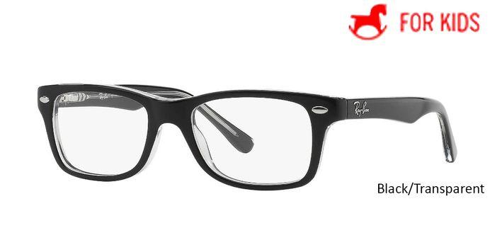 Black/Transparent RayBan Eyeglasses ORY1531 - Black/Transparent - Violet/Grey - Tortoise/Pink - Red.