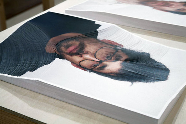 Portraits Cut Into Layers Illustrate Time Passing #layers #portrait