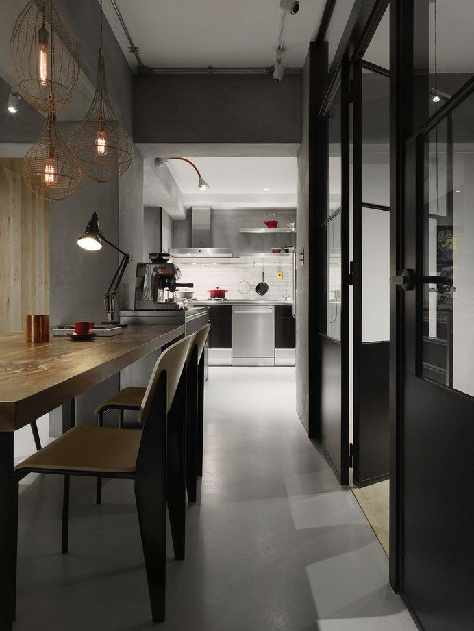 Honeycomb Apartment in Taipei, Two Books Space Design 4