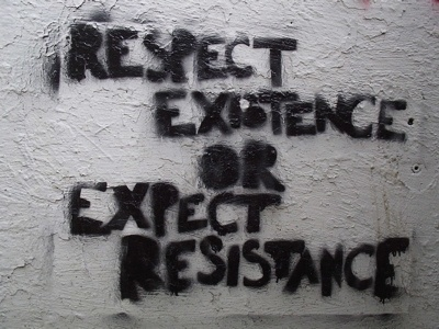 FFFFOUND! | EcO Action: Envirolutionary | Well said. #resistance #or #existence #respect #expect