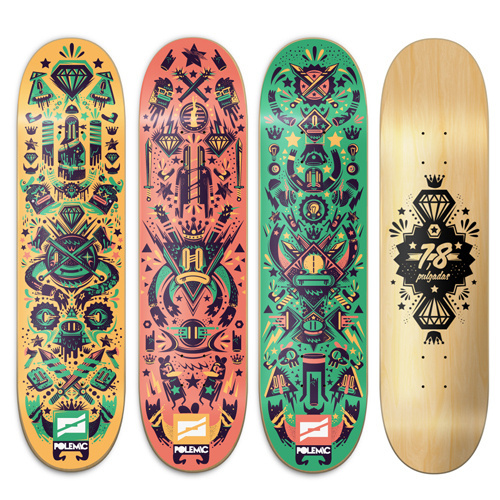 Polemic Skate Decks by New Fren #illustration #color #art