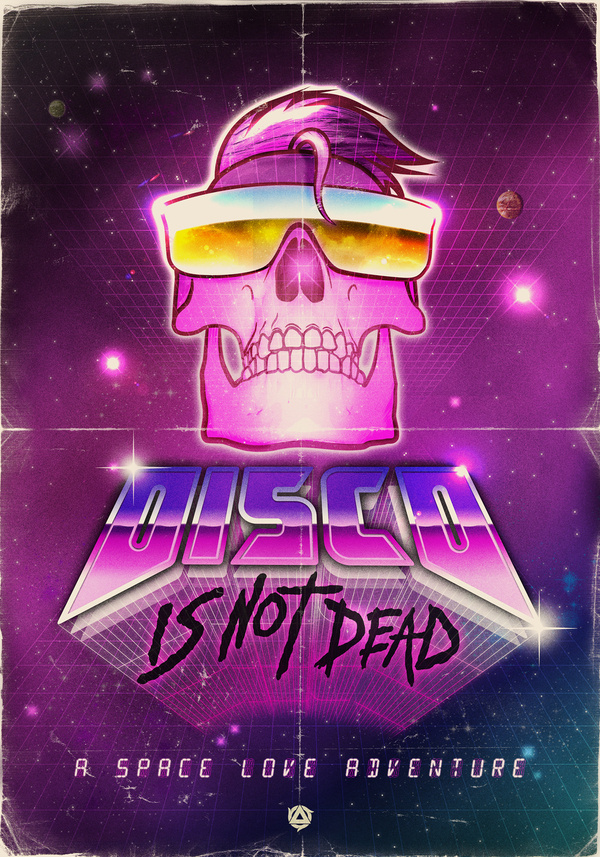 DISCO IS NOT DEAD on Behance #80s design #retro