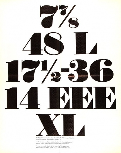Container List: Fashion Illustration at SVA #lettering #illustration #fashion #type #1965