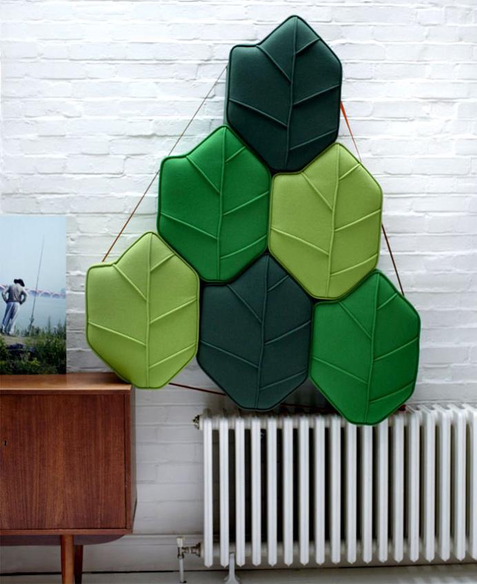 Leaf Seat Upholstered Pouf Design by Nicolette de Waart - #design, #furniture, #modernfurniture, design, furniture