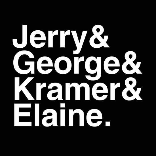 Jerry & George & Kramer & Elaine - by Bill Pyle