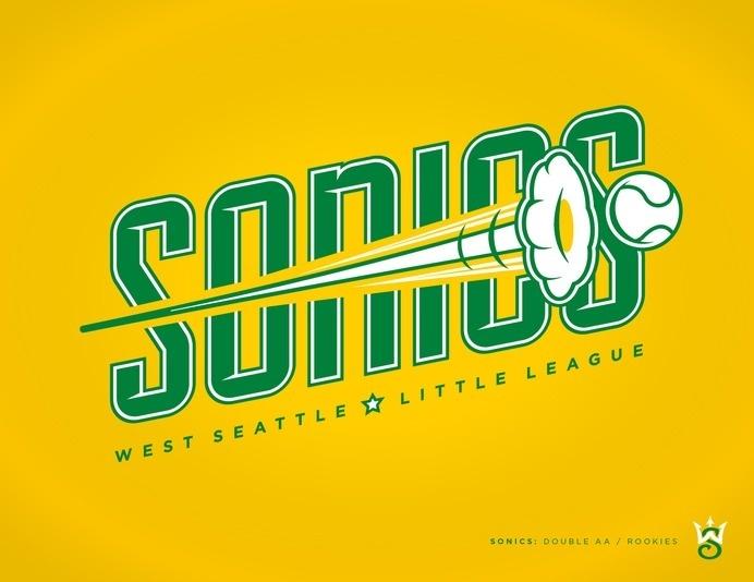 West Seattle Little League - danlustig.com #vector #seattle #sonics #sports #baseball #logo #typography